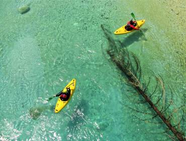 Kayak course with accommodation