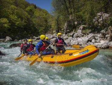 Half-day rafting on Soča river